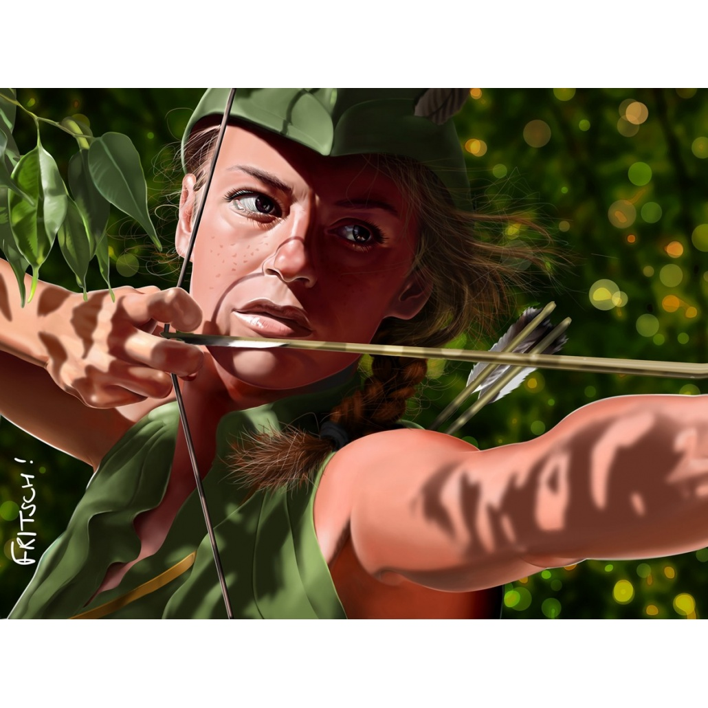 Maid Marian. Vincent Fritsch Digital painting