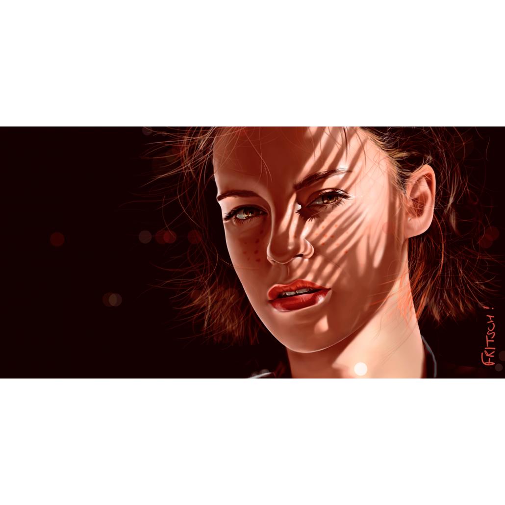 Vincent Fritsch art Digital painting. Gold Snafu