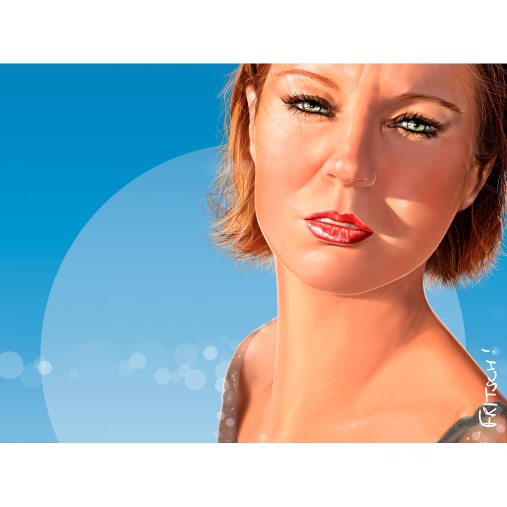 Vincent Fritsch Digital Painting Sandrine Horizon Blue