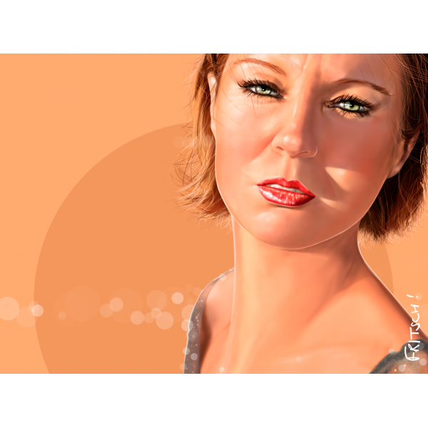 Vincent Fritsch Digital Painting Sandrine tangerine