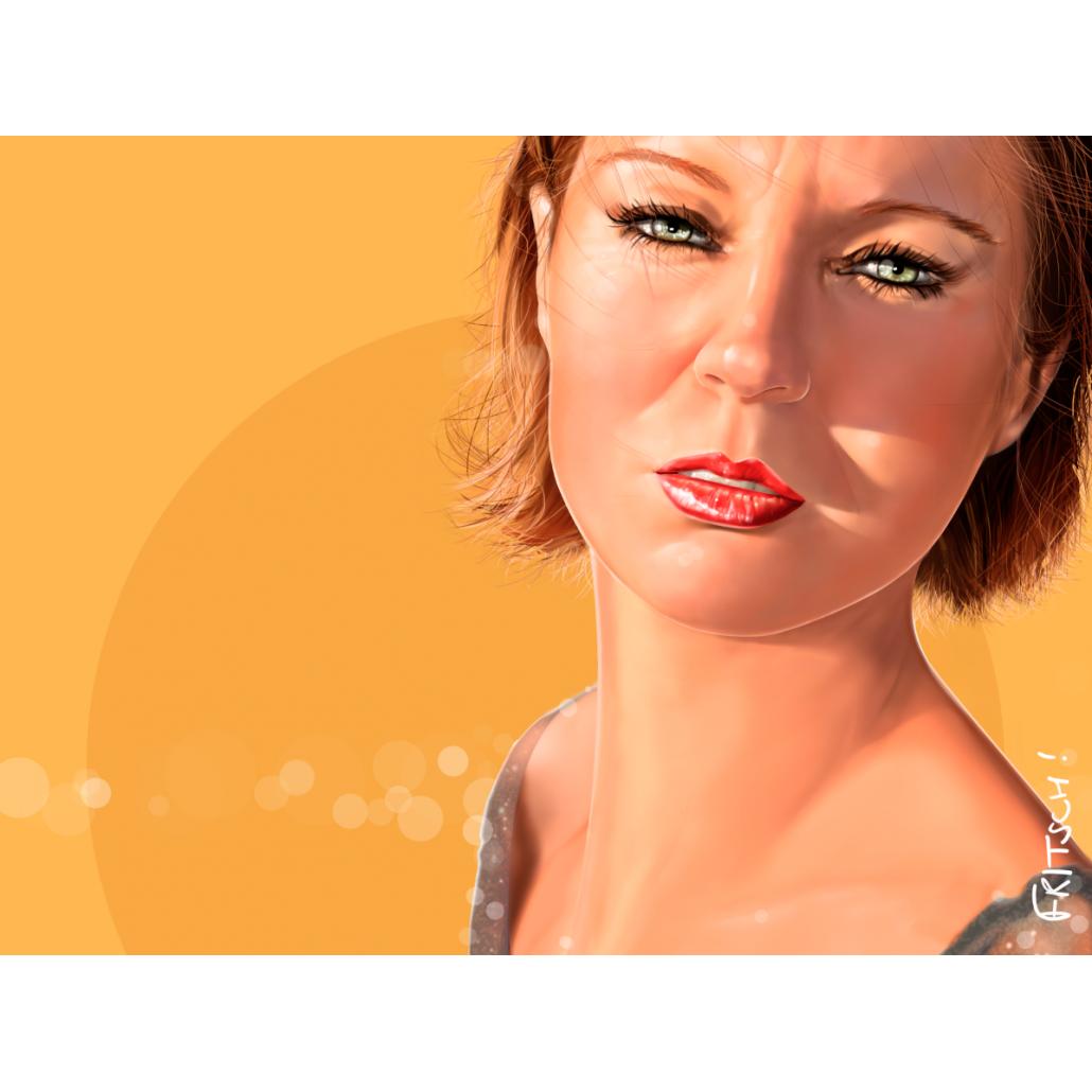 Vincent Fritsch Digital Painting Sandrine Honey