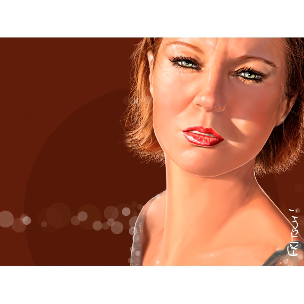Vincent Fritsch Digital Painting Sandrine Gingerbread
